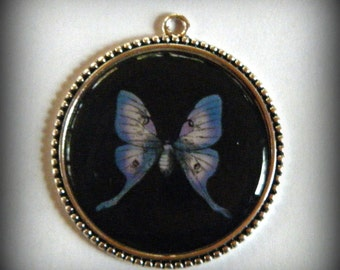 Luna Moth Pendant, Butterfly Necklace