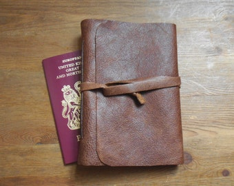 Address Book Distressed Brown Leather A6
