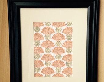Orange Flower Print (framed)