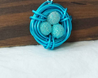 grandma necklace, bird nest necklace, Gift for grandma, gift mom gift, family tree necklace, birds egg nest, gift for new mom, boy mom