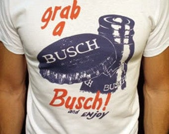 Busch Beer t-shirt new vintage style budweiser beer made in usa