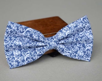 handmade blue and white porcelain mens bow tie,men's bow tie, men bow tie, bow tie for men, bow tie men, wedding bow tie, groomsmen bow tie