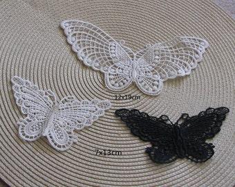 wholesale lot  15pcs  butterfly lace patch applique    sewing  patch