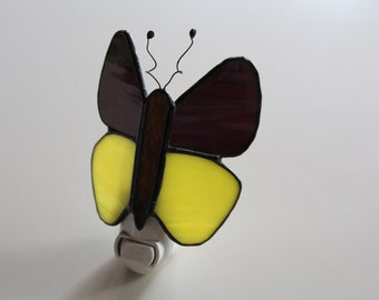 Butterfly-- stained glass nightlight