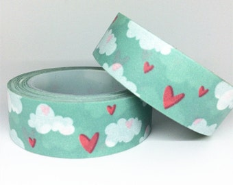 Washi Tape, Kawaii Washi Tape, Cute Washi Tape, Blue Sky Washi Tape