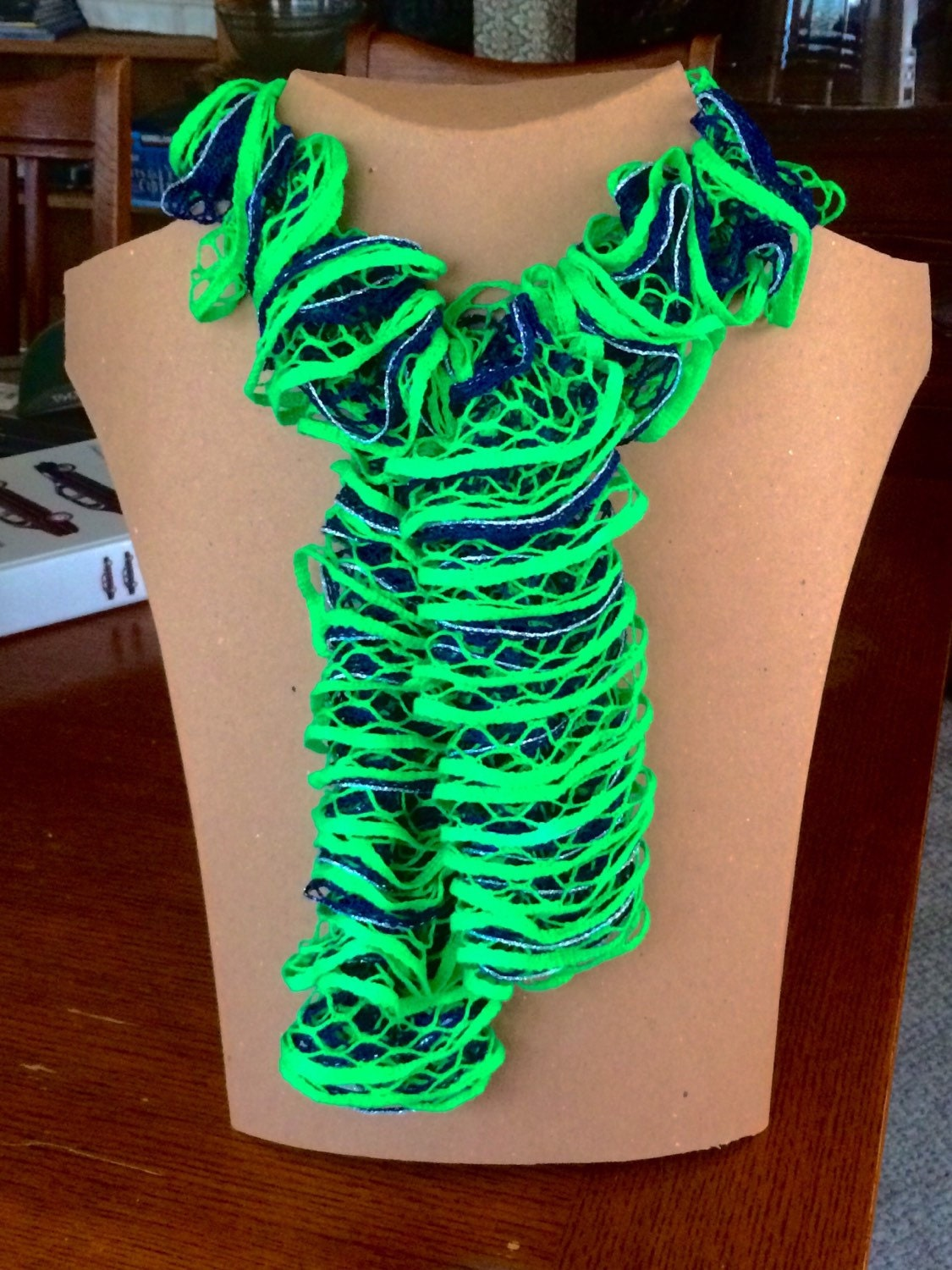seahawks ruffle scarf by bonnycreations on etsy