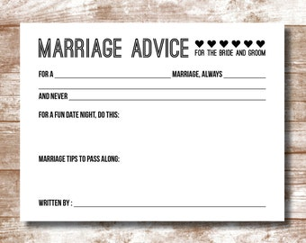 Marriage Advice Cards - Packs of 15-200