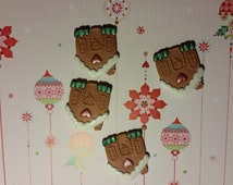 Edible Cake/Cupcake Decorations - 12 Gingerbread Houses - Fondant Toppers, Sugarpaste Toppers