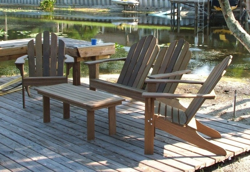 ipe adirondack patio set