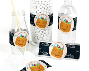 15 Trick or Treat Party Favor Wrappers - Halloween Party Supplies