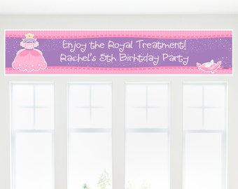 Princess Banner - Custom Baby Shower or Birthday Party Decorations