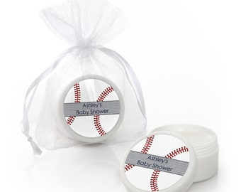 Baseball Lip Balm Party Favors - Baby Shower and Birthday Party Supplies - 12 Count