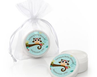 12 Owl Lip Balm Party Favors - Baby Shower and Birthday Party Supplies - 12 Count