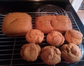 Vegan Pumpkin Bread and Muffins
