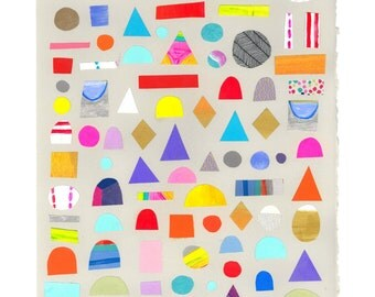 Shapes collage #2 giclee print