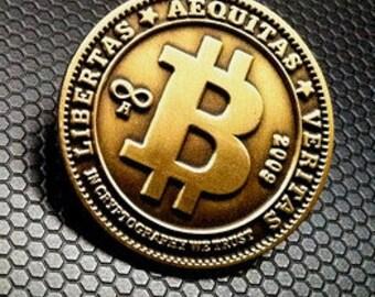 "High Quality Bitcoin Lapel Pin 1"" Diecast Metal"