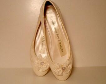 Lace Wedding Ballet Flats,  Marie Antoinette Lace and  Shoes, Bridal Ballet Shoes , Ballerina Shoes, Lace Flats