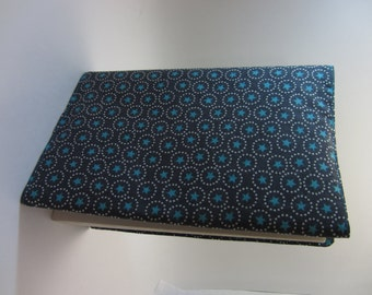 Gray and Blue Stars Adjustable Fabric Manga Book Cover