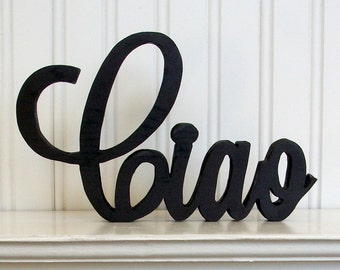 Ciao Wood Word Sign - Handmade Wood Sign, Painted Ciao Sign