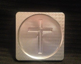 Set of 4 CNC Machined aluminum cross coasters