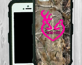 Monogram iPhone Case Personalized iPhone 5 5C Real Tree Camo Monogrammed Phone Case iPhone 5S Water Resistant Heavy Duty Case #2184
