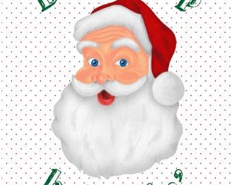 8x10 Don't Stop Believin' Santa INSTANT DOWNLOAD Printable Art/Decor
