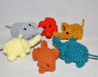 Crochet Pocket Elephant dolls house