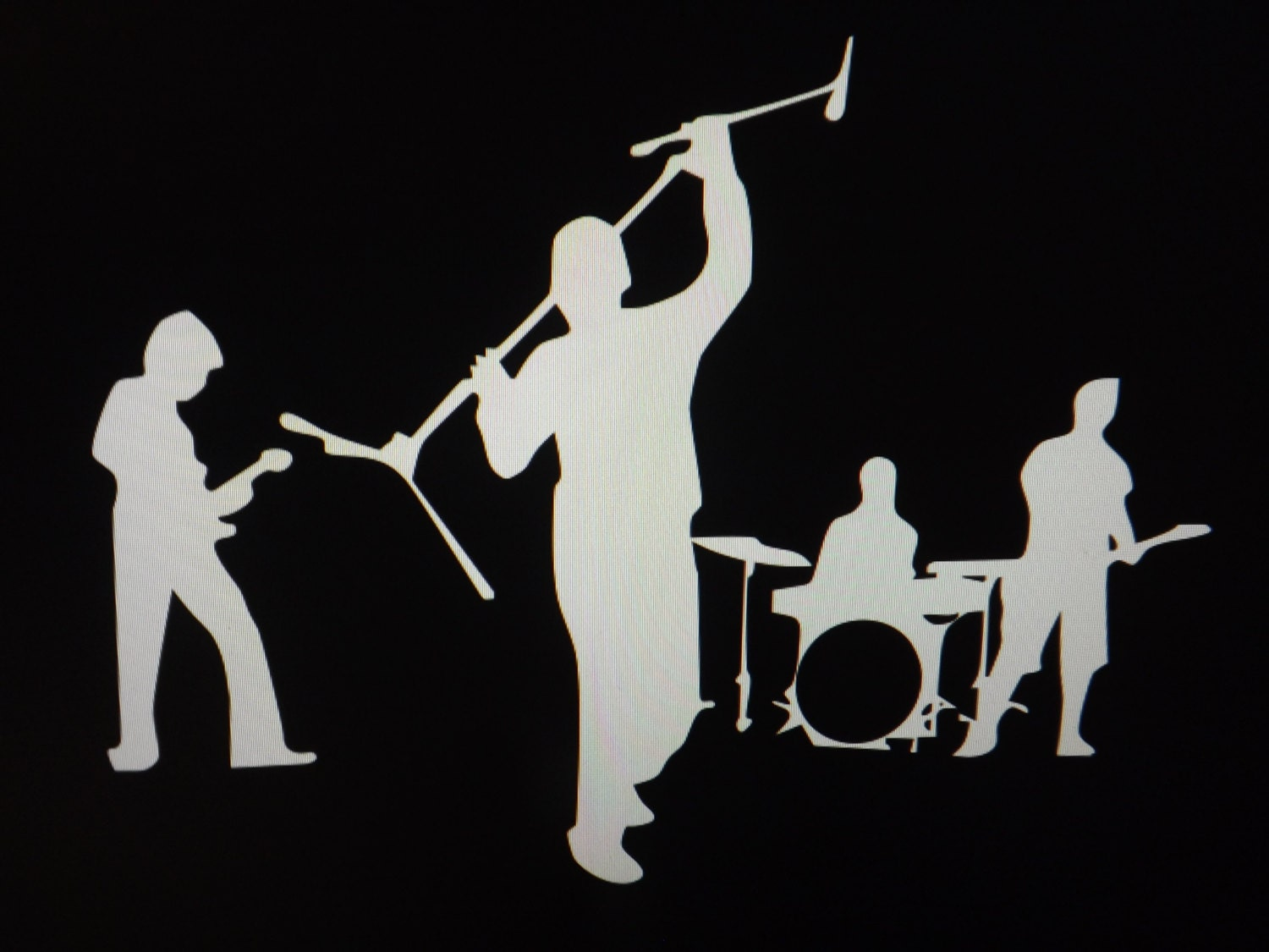 Rock Band Silhouette VehicleWindow Decal/Sticker by cigprinting Rock Band Silhouette