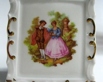 Limoges Miniature Fragonard's Lovers