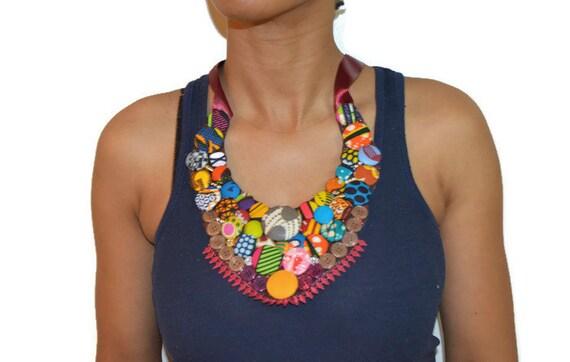 solee ankara bib necklace african statement necklace statement