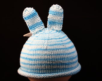 Infant Toddler Hat 2+ year old - Bunny - knit baby hat - baby knit hat  - baby hat knit - knit hat - baby photo prop