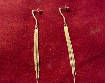 Gold plated or silver plated brass and sterling silver 925 earings TRANSAMERICA by KREATURE bijoux