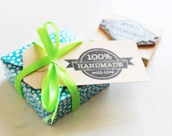 100% handmade stamp