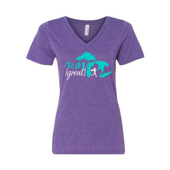 Items similar to michigan run great tee shirt on etsy for I run for meg shirts