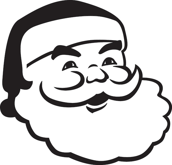 Items similar to Santa Face svg file on Etsy