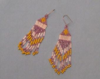 Native American Inspired Beaded Earrings