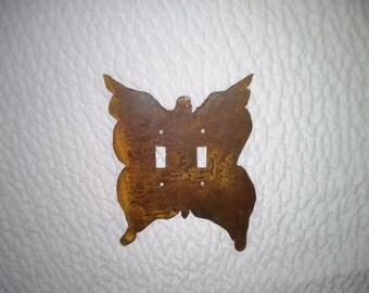 Made to order Rusted Butterfly Light Switch cover