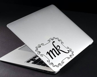 Personalized Initials - Vinyl Decal Label for laptop, tablets, cars & more