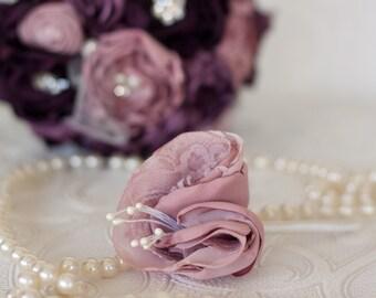 Grooms, Best man, Groomsmen Custom made Fabric Buttonhole, Boutonniere,