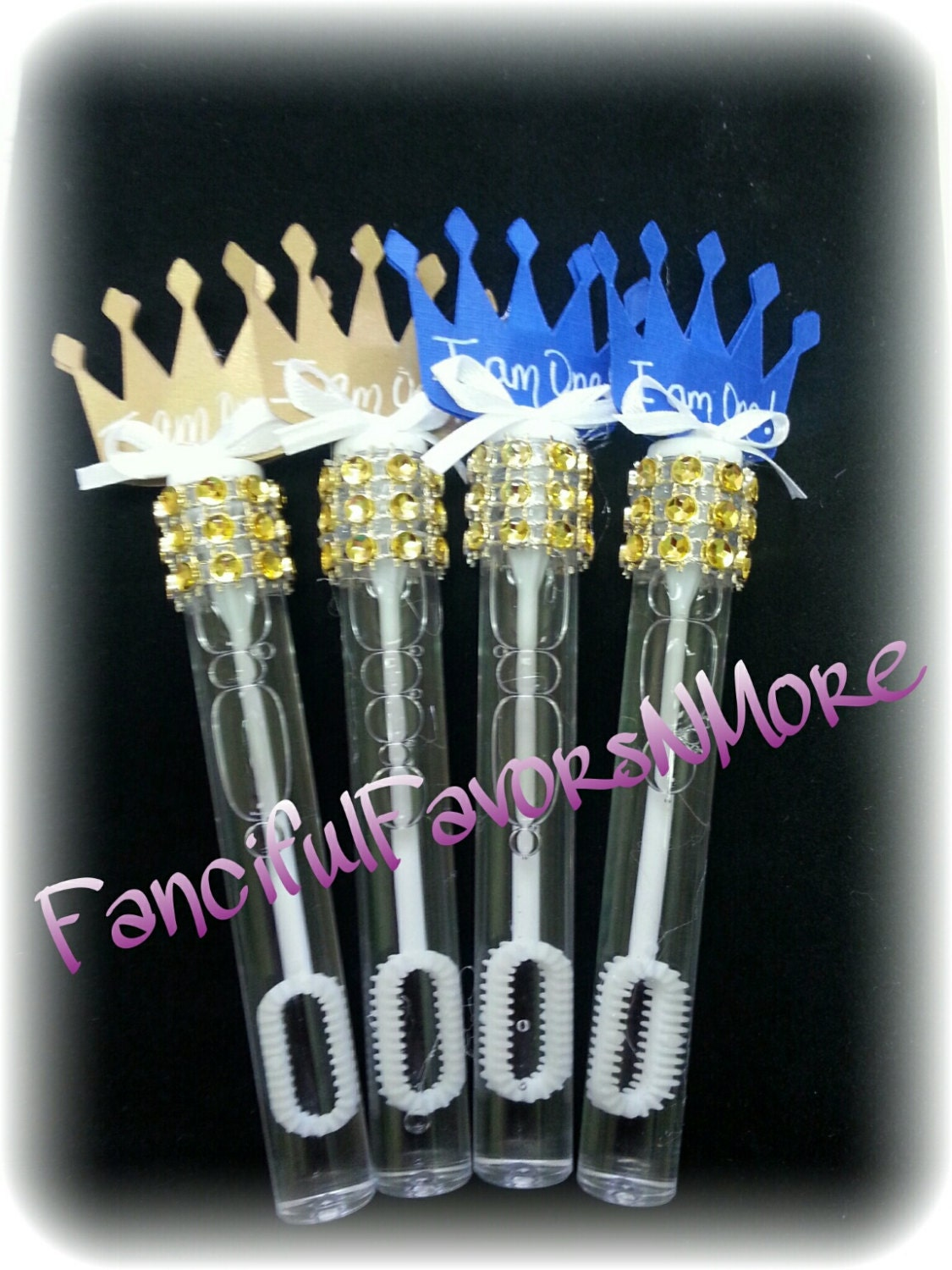 Prince Wand: 12 Prince Bubble Favors/Bubble Wands By FancifulFavorsNMore