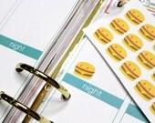 30 Kawaii Burger Stickers! Perfect for your Erin Condren Life Planner, Filofax, Kikki, Plum Paper and other agenda/planner! #SQ00265