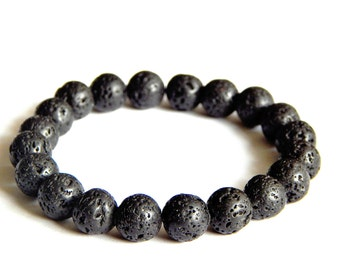 "Bracelet ""Mineral"" into thin lava beads"