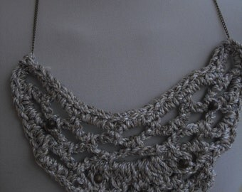 Statement necklace from cord with bead
