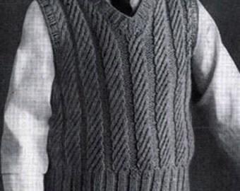 Knitting Pattern For Toddler Boy Vest : Boys knitted vest Etsy