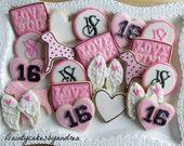 1 Dozen Victoria Secret inspired decorated cookies!