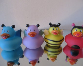 Insect/Bug Rubber Ducks - great gift idea for your little bug catcher! - lady bug, butterfly, bumblebee, june bug