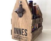6 pack holder, beer carrier, wood beer caddy, wood 6 pack holder, personalized beer caddy, personalized beer holder