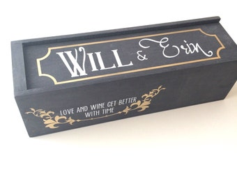 Wine box, wedding wine ceremony, custom wine box