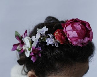 Peony Floral Halo