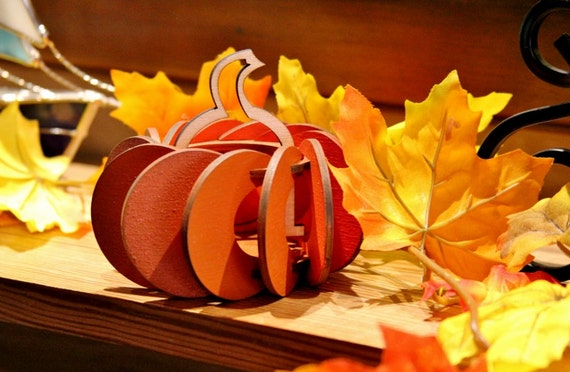 Items similar to Fall Harvest Pumpkin Tea Lights. Individual kits, or String together for ...